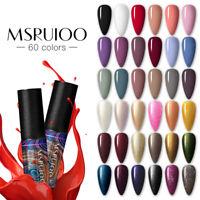 MSRUIOO Nail UV Gel Polish Soak off Nail Art UV Gel Varnish UV LED Gel Color 5ml