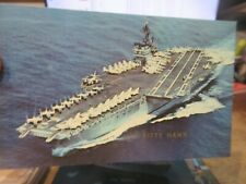 New ListingOther Old Postcard Boat Ship Military Battleship Uss Kitty Hawk Aircraft Carrier