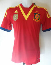SPAIN FOOTBALL 2013/14 S/S HOME SHIRT BY ADIDAS SIZE ADULTS SMALL BRAND NEW