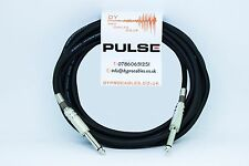 Pulse 6.35mm Low Noise Guitar/Bass/Keybaord/Instrument Cable Lead Black- 5m