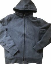 LULULEMON Mens CORE Hoodie Jacket Coat Dark Gray size L Cotton Fleece Everyday