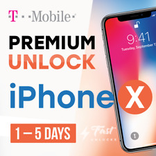T-MOBILE USA / METRO PCS UNLOCK SERVICE FOR IPHONE X CLEAN AND FINANCED