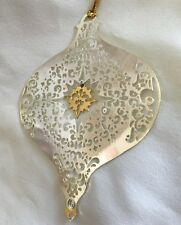 "AVON 3.5"" Metal GALARY ORIGINALS Silver/Goldtone Dew Drop Ornament Figurine"