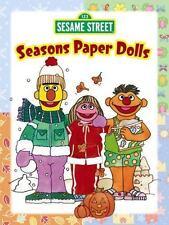 SEASONS PAPER DOLLS, Sesame Street, Bert, Ernie, Prairie Dawn, punch-out, fun!!
