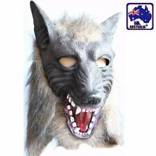 Wolf Head Mask Creepy Halloween Cosplay Animal Theater Adult Costume JMASK 6664