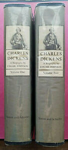 CHARLES DICKENS BIOGRAPHY His Tragedy & Triumph 1952 ~ 2 VOLUMES ~ Edgar Johnson