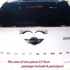 A Pair of Auto Car Lashes Auto Logo Eyelashes Stickers Decor Accessories