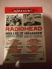 "(TBEBK59) ADVERT/POSTER 11X8"" RADIOHEAD - TOUR DATES"