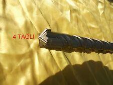 PUNTA 4 TAGLI PER MURO MAX SDS 32mm X LUNGHEZZA 60cm X TRAPANO GRANTE DEMOLITORE