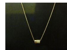 Collier en plaqué or pour femme,pendentif avec zircon forme (Neuf, étiquettes)