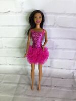 Mattel Barbie Friend African American Doll Brunette Brown Hair Pink Tutu Dress