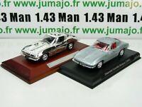 lot 2 VOITURES 1/43 IXO : CHEVROLET CORVETTE Stingray (1963) et Silver-cars