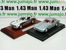 Lote 2 Coches 1/43 IXO : Chevrolet Corvette Stingray (1963) Y Silver-Cars