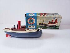 "Vintage Triang Scalex Boats Drifter 424S Clockwork 7.5"" Boat in Original Box"