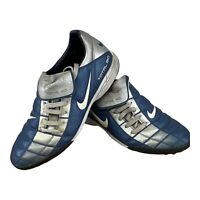 Retro 2002 Nike Total 90 Navy/Silver Astro Football Boots Size UK 9 Collectible