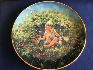 "Danbury Mint The Enchanted Garden ""Gentle Friends "" fairy plate"