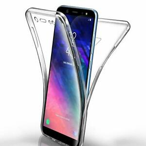 For Samsung Galaxy S21 S20 S10 S9 + Ultra Thin FRONT & BACK Cover 360 CLEAR Case