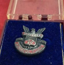 Vintage Sterling Silver Brooch Pin 925 Service 20 Year Us Dept Agriculture Eagle