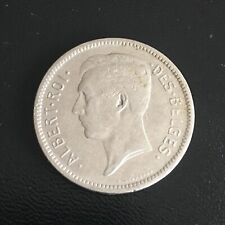 1931 Belgium 5 Francs Nickel Coin