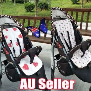 Reversible Cotton Pram Liner Seat Liners Pram & Stroller Accessories