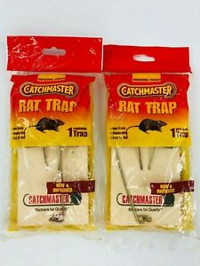Catchmaster Rat Traps Rodent Killer Pest Control Snap Non-Toxic Lot of 2