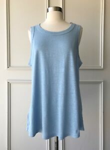 | COUNTRY ROAD | linen jersey tank top powder blue | $49.95 | NEW | SIZE: L,XL