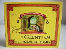 Alte volle 10er Zigaretten-Schachtel Packung Orient DDR Tabak VEB Dresden rar
