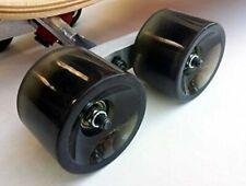 (Set of 2) Red Tandem Axle Wheel Kit Set for Skateboard Cruiser Longboard Truck