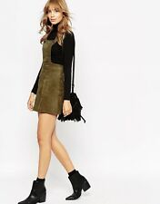 *REAL* Suede ASOS Overall Skirt Jumper -Small