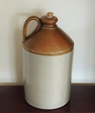More details for vintage stoneware  flagon  13 inches tall and having the cork in place