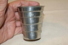 VINTAGE KIRK PEWTER 5 OUNCE JIGGER CUP