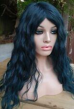 Verde Azul Mezcla de pelo humano peluca Peluca Peluca delantera con encaje de pelo real Peluca rizados