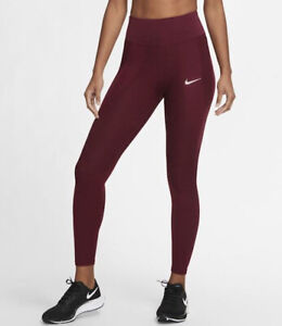 Nike Dry Women's Epic Lux Tight Fit Textured Running Leggings CU3379-638 Size S