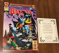 Batman DETECTIVE COMICS #668 Signed Chuck Dixon, G. Nolan & Scott Hanna (COA)