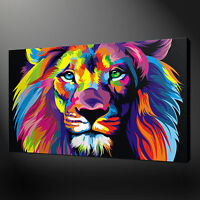 LION ABSTRACT CANVAS PRINT PICTURE WALL ART FREE UK DELIVERY VARIETY OF SIZES