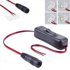 10mm 2 Pin Switch LED Connecteur 5.5mm x 2.1mm DC Femele pour SMD 5050 LED Strip