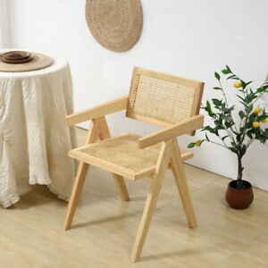 High Quality Beige Vintage Cesca Mid Century Chair Rattan Woven Chair