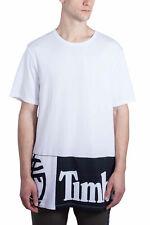 TIMBERLAND Uomo - T-shirt oversize bianca con logo '90s