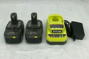 Ryobi 18V ONE+ PBP005 4Ah Li-Ion Compact Battery [2] & Charger [1], LN