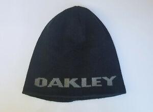 OAKLEY Black Winter Cap Ski Snopwboard Beanie Hat One Size