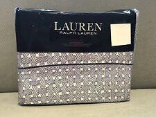 Ralph Lauren Spencer Basketweave Sateen Queen Sheet Set 4pc Cottage Fisher Blue
