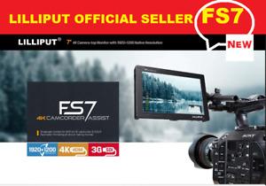 """LILLIPUT 7"""" FS7 1920x1200 Metal 3G-SDI 4K HDMI DSLR Camera Monitor + V mount pla"""