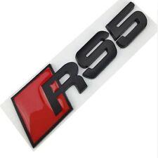 AUDI A5 Logo RS5 Noir Satin Emblème Autocollant Body Side Fender Rear Trunk