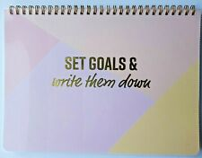 Set Goals & Write Them Down monthly/ Calendar 50 sheets / 100 pages NEW Any Year