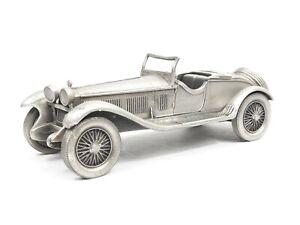 The Danbury Mint 1931 Alfa Romeo 6C1750 Zagato Spider 1:43 Scale Pewter Car