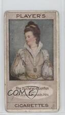 1914 Player's Bygone Beauties Tobacco Base #15 Jane Duchess of Gordon Card 0w6