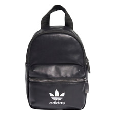 Adidas Mini Back Pack PU Black Carry Bag Sport Fitness High School Teen Adult
