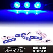 Xprite 4PC 12 LED Strip Pod Panel 4X4 Off Road Jeep Under Body Rock Lights BLUE