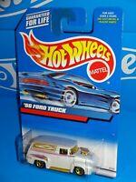 Hot Wheels 2000 Mainline #171 '56 Ford Truck White w/ Gold 5SPs Tilt Hood