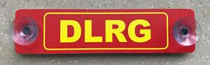 PVC-Schild mit Saugnäpfen: DLRG Saugschild fürs Auto Kfz etc. Lebensrettung